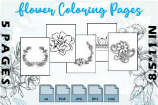 Flower Coloring Pages VOL 5   KDP Graphic Coloring Pages & Books Adults By Kdp Speed