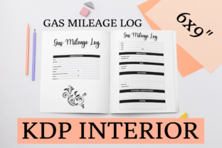 Print on Demand: Gas Mileage Log | KDP Interior Graphic KDP Interiors By KDP Mastermind