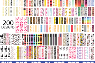 Print on Demand: Glitter Pen Wraps Graphic Illustrations By Sofiamastery