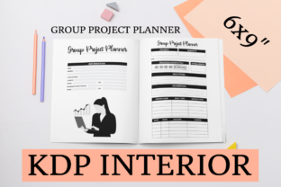 Print on Demand: Group Project Planner | KDP Interior Graphic KDP Interiors By KDP Mastermind