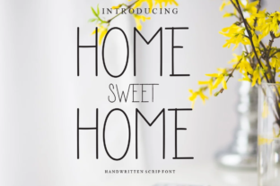 Print on Demand: Home Sweet Home Script & Handwritten Font By Creative Pink
