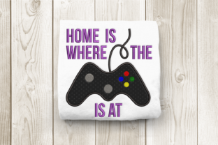 Home is Where the Game System is at Games & Leisure Embroidery Design By DesignedByGeeks
