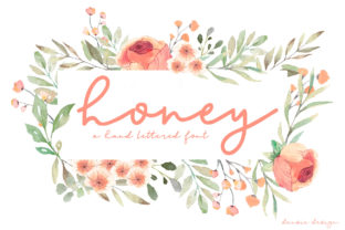 Print on Demand: Honey Script & Handwritten Font By dansiedesign