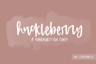 Print on Demand: Huckleberry Script & Handwritten Font By dansiedesign