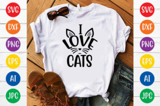I LOVE CATS Graphic Crafts By ismetarabd