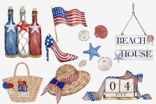 Print on Demand: Independence Day Clipart Set Graphic Illustrations By TheGGShop 5