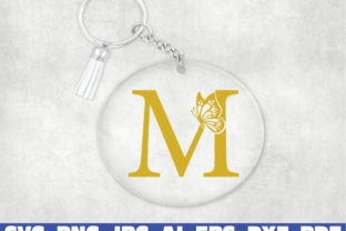 Print on Demand: Keychain Monogram Alphabet Graphic Illustrations By Sofiamastery