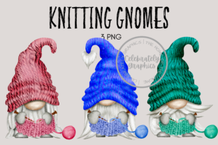 Knitting Crafting Gnome Clipart Graphic Illustrations By Celebrately Graphics