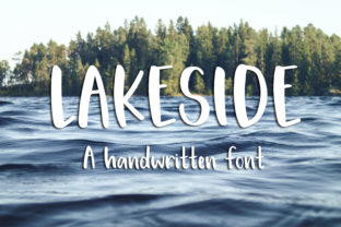 Print on Demand: Lakeside Script & Handwritten Font By dansiedesign