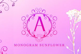 Print on Demand: Monogram Sunflower Decorative Font By handles creative