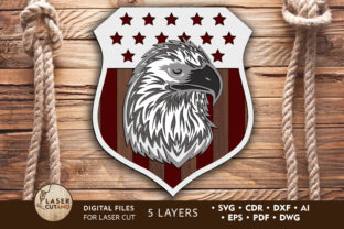 Print on Demand: Multilayer Laser Cut File EAGLE Graphic Crafts By LaserCutano