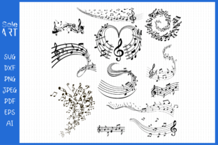 Music Note Svg, Music Notes Graphic Crafts By SeleART