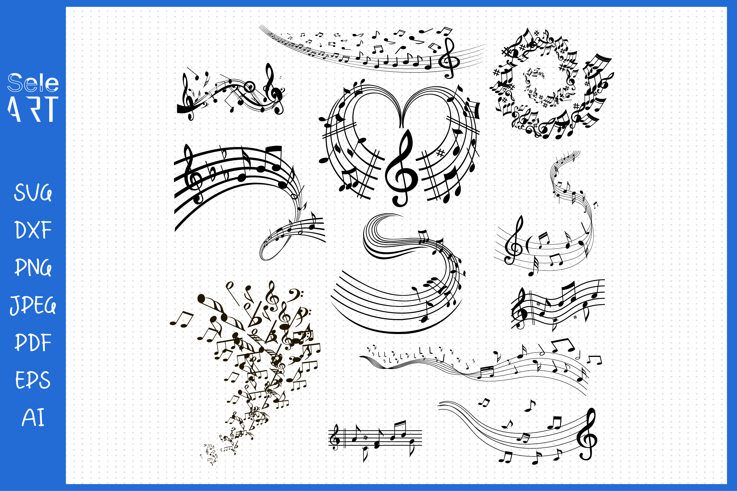 Music Note Svg, Music Notes SVG File