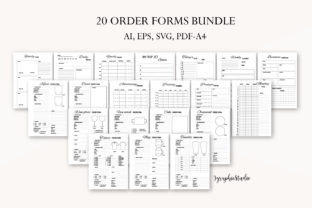 Order Form, Crafters Business Bundle Graphic Graphic Templates By Igraphic Studio