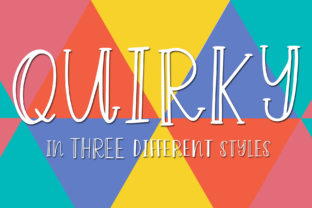 Print on Demand: Quirky Display Font By dansiedesign