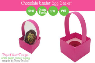 Print on Demand: Scalloped Chocolate Easter Egg Basket Graphic 3D SVG By rushton_tracy