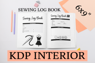 Print on Demand: Sewing Log Book | KDP Interior Graphic KDP Interiors By KDP Mastermind