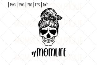 Skull Mom Life Messy Bun Leopard Bow Graphic Illustrations By designermomscraftboutique