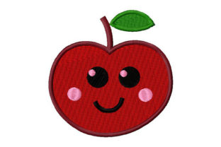 Print on Demand: Smiling Apple Food & Dining Embroidery Design By Dizzy Embroidery Designs