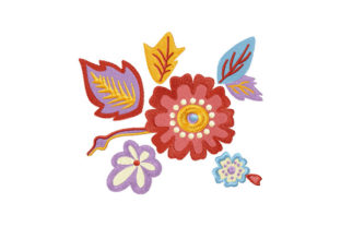 Print on Demand: Spring Floral Decor Spring Embroidery Design By EmbArt