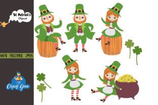 Print on Demand: St Patricks Day Clipart Bundle Graphic Illustrations By clipartgenie