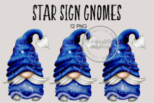 Print on Demand: Star Sign Zodiac Gnome Clipart Graphic Illustrations By Celebrately Graphics