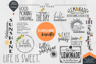 Print on Demand: Summer SVG Bundle of 13 Designs Graphic Crafts By Lettershapes
