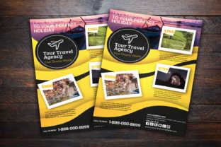 Travel Agency Flyer Graphic Print Templates By MintDesign
