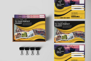 Travel Agency PostCard Graphic Print Templates By MintDesign
