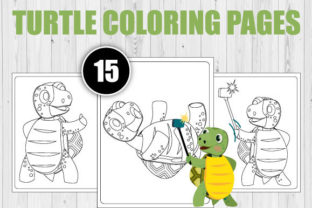 Print on Demand: Turtle Coloring Pages for Kids Graphic Coloring Pages & Books Kids By TrendColors