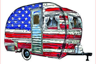USA Trailer Clipart, Camper, Camping,png Graphic Graphic Templates By AlaBala