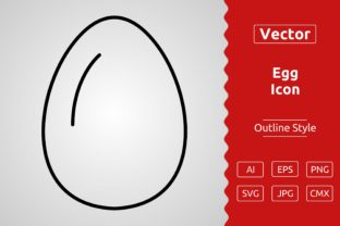 Print on Demand: Vector Egg Outline Icon Design Graphic Icons By Muhammad Atiq