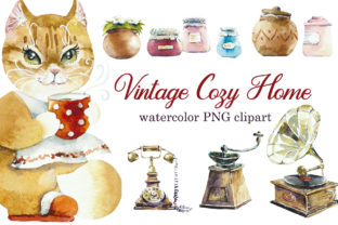 Vintage Cozy Home Graphic Objects By Мария Кутузова
