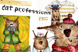 Watercolor Clip Art of the Profession Graphic Illustrations By WatercolorСreatures