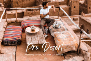 Print on Demand: 10Pro Desert Photoshop Actions, ACR, LUT Graphic Actions & Presets By 3Motional