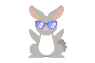 Easter Bunny Wearing Sunglasses Easter Craft Cut File By Creative Fabrica Crafts