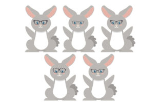Easter Bunnies Wearing Glasses Pattern Easter Craft Cut File By Creative Fabrica Crafts