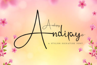 Print on Demand: Andilay Script & Handwritten Font By Rezastudio