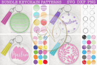 BUNDLE Round Keychain Patterns SVG Grafik Plotterdateien von paperart.bymc