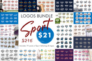 Print on Demand: BUNDLE of Sport Emblems Graphic Illustrations By lesartbiz