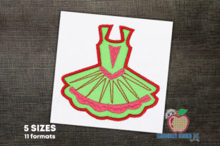 Ballerina Tutu Applique Dance & Drama Embroidery Design By embroiderydesigns101