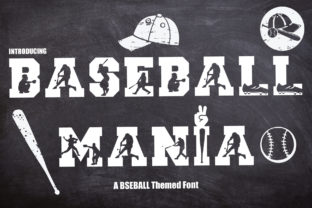 Print on Demand: Baseball Mania Decorative Font By KtwoP