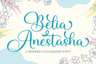Print on Demand: Belia Anestasha Script & Handwritten Font By Megatype