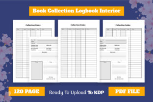 Book Collection Logbook KDP Interior Graphic KDP Interiors By Effectmaster