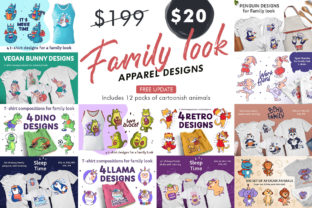 Print on Demand: Bundle of Designs for Family Graphic Illustrations By lesartbiz