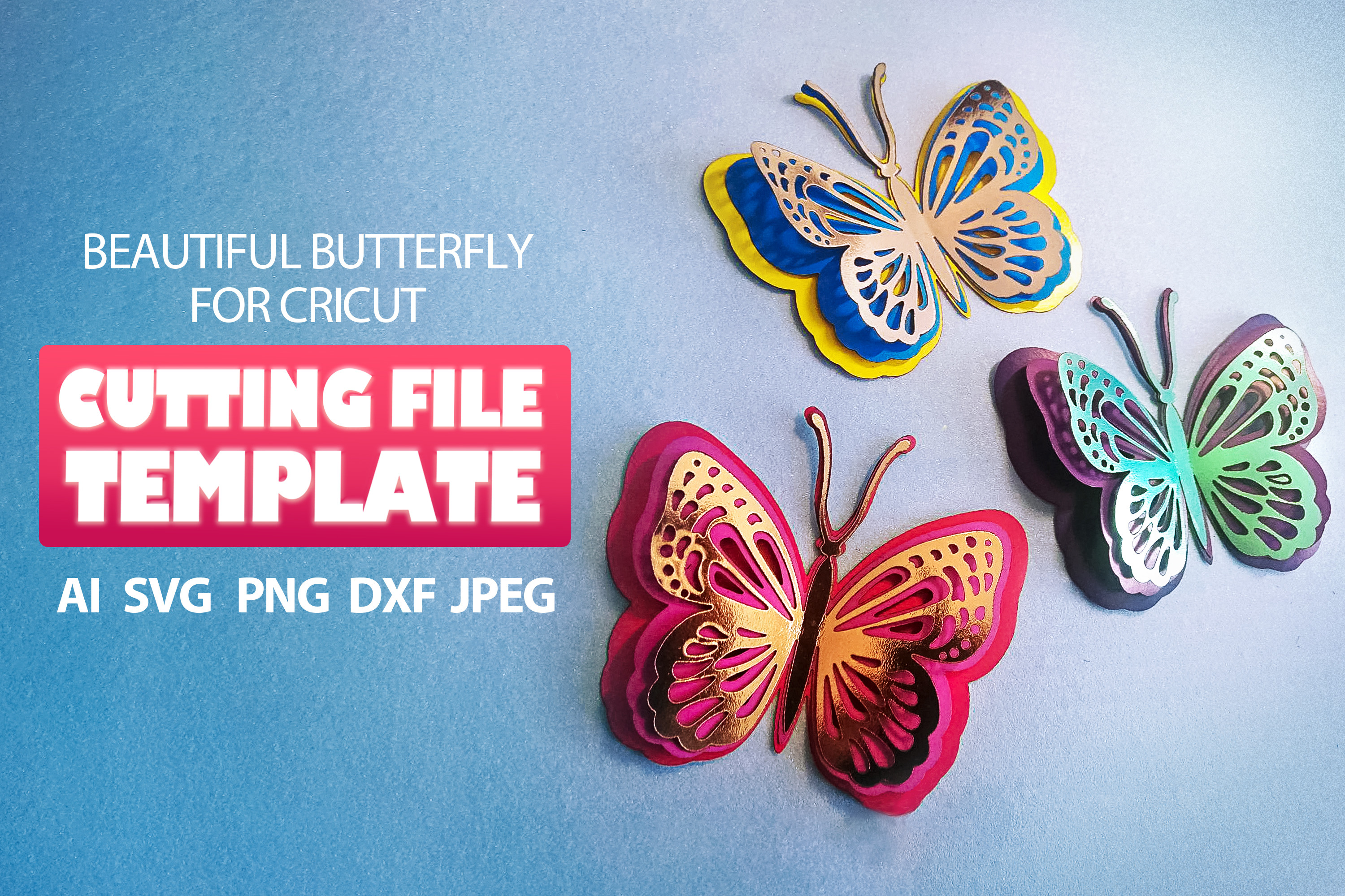 Butterfly Clipart SVG File