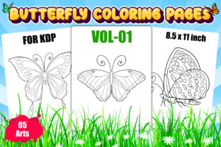 Butterfly Coloring Pages for Kids | KDP Graphic KDP Interiors By XpertDesigner