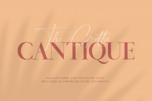 Print on Demand: Cantique Serif Font By xdCreative