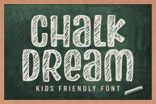 Print on Demand: Chalk Dream Display Font By Orenari