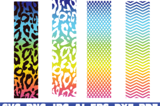 Print on Demand: Cheetah Leopard Print Glitter Pen Wraps Graphic Illustrations By Sofiamastery